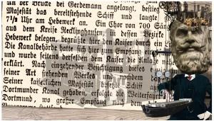 Collage Schiffshebewerk Henrichenburg, Bildbearbeitung Ruhrgebiet